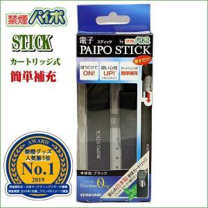 禁煙パイポ 電子パイポ ステイック カートリッジ交換方式 スターターセット ブラック|zennsannnet