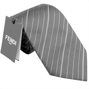 フェンディ ネクタイ FENDI イタリー製 シルク100% ネイビー系 4WU-F0QB0|zennsannnet