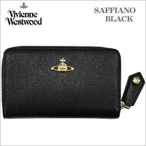 ヴィヴィアン・ウェストウッド ホック式長財布 サフィアーノ  ブラック ゴールドオーヴ SAFFIANO  BLACK No-9|zennsannnet