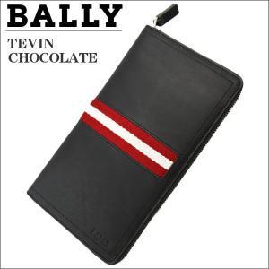 バリー メンズ財布 ラウンドジップ財布 ファスナー小銭入れ付  ブラウン CHOCOLATE TEVIN 6167359|zennsannnet