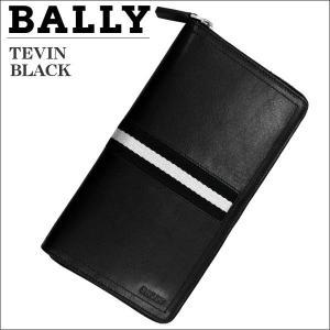 バリー メンズ財布 ラウンドジップ財布 ファスナー小銭入れ付  BLACK ブラック TEVIN 6167360|zennsannnet
