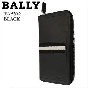 バリー メンズ財布 ラウンドジップ財布 ファスナー小銭入れ付  BLACK ブラック TASYO 6179156|zennsannnet