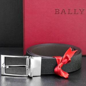 メンズベルト バリー BALLY  リバーシブル BLACK CALF PRINTED 6181999 ギフト プレゼント 父の日|zennsannnet