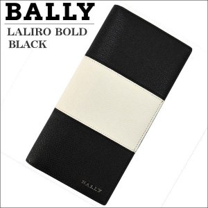 BALLY バリー メンズ財布 長札財布(ファスナー小銭入れ) ブラック BLACK  LALIRO BOLD 00 6205510|zennsannnet