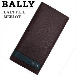 BALLY バリー メンズ財布 長札財布(ファスナー小銭入れ) ブラウン MERLOT LALTYL.L 6208035|zennsannnet