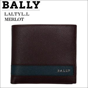 BALLY バリー メンズ財布 2つ折り財布(ホック式小銭入れ) ブラウン MERLOT  LYITE.L 6208090|zennsannnet