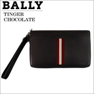 バリー ラウンドジップ財布 大収納 トラベルウォレット ブラウン CHOCOLATE TINGER 6208237|zennsannnet
