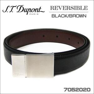 デュポン メンズベルト st.DUPONT リバーシブルタイプ ブラック/ブラウン7052020 zennsannnet