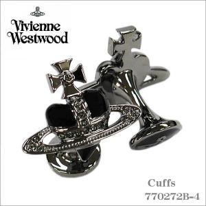 ヴィヴィアン・ウエストウッド Vivienne Westwood カフス ブラックシルバー 770272B-4 ギフト プレゼント|zennsannnet