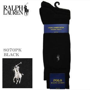 ポロ・ラルフローレン ビジネスソックス 3足セット ブラック 8070PK-001|zennsannnet