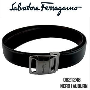 フェラガモ メンズベルト salvatore ferragamo 9298-02-0621248 ブラック NERO AUBURN 90cmタイプ 並行輸入品|zennsannnet