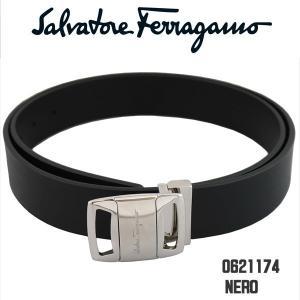 フェラガモ メンズベルト salvatore ferragamo 9303-01-0621174 ブラック NERO 105cmタイプ 並行輸入品|zennsannnet