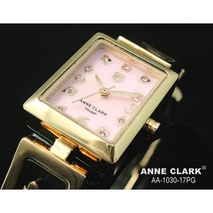 ANNE CLARK アンクラーク レディス腕時計 スクエアータイプ 天然シェルダイヤル AA1030-17PG ギフト プレゼント|zennsannnet