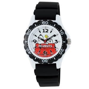 スヌーピー 時計 snoopy キッズ腕時計 ダイバータイプ AA96-0015 ギフト プレゼント 誕生日|zennsannnet