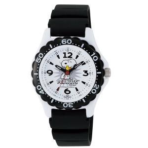 スヌーピー 時計 snoopy キッズ腕時計 ダイバータイプ AA96-0016 ギフト プレゼント 誕生日|zennsannnet