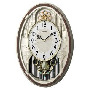 カラクリ時計 SEIKO セイコー 電波クロック 掛け時計 AM255B ギフト 贈答品 新築祝い zennsannnet