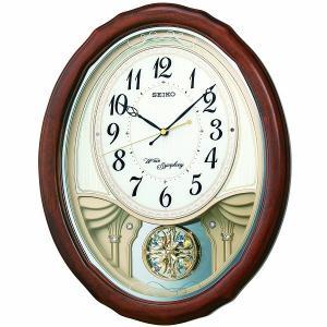 SEIKO セイコー 電波クロック 掛け時計 カラクリ時計 AM257B ギフト 贈答品 新築祝い zennsannnet