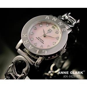 ANNE CLARK アンクラーク レディス腕時計 オープンハートブレスレットタイプ シェルダイヤル 天然ダイヤ  AN1021-17 ギフト プレゼント zennsannnet
