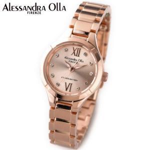 アレサンドラ・オーラ レディス腕時計 ピンクゴールド ラインストーンインデックス AO-335-2|zennsannnet