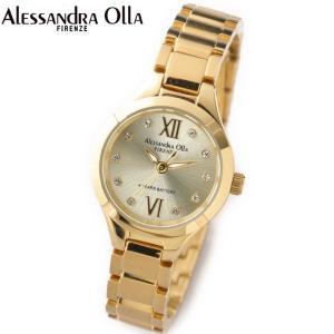 アレサンドラ・オーラ レディス腕時計 ゴールド ラインストーンインデックス AO-335-3|zennsannnet