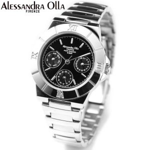 アレサンドラ・オーラ レディス腕時計 マルチファンクション 10気圧防水 ブラック AO-900-1|zennsannnet