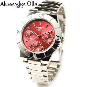 アレサンドラ・オーラ レディス腕時計 マルチファンクション 10気圧防水 レッド AO-900-5 zennsannnet
