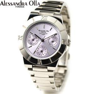 アレサンドラ・オーラ レディス腕時計 マルチファンクション 10気圧防水 パープル AO-900-7|zennsannnet