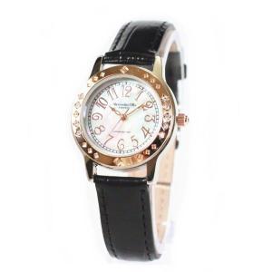 アレサンドラ・オーラ レディス腕時計 alessandra olla  白蝶貝文字盤 AO1750BK ブラックベルト zennsannnet