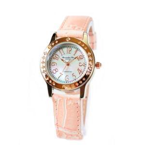 アレサンドラ・オーラ レディス腕時計 alessandra olla  白蝶貝文字盤 AO1750PK ピンクベルト zennsannnet