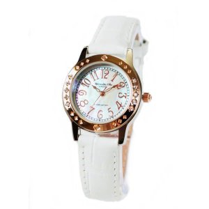 アレサンドラ・オーラ レディス腕時計 alessandra olla  白蝶貝文字盤 AO1750WH ホワイトベルト zennsannnet