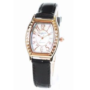 アレサンドラ・オーラ レディス腕時計 alessandra olla  白蝶貝文字盤 AO1850BK ブラックベルト zennsannnet