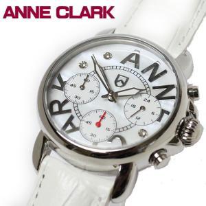 ANNE CLARK アンクラーク 赤針クロノグラフ レディス腕時計 天然シェル文字盤 AU1033-09 ギフト プレゼント|zennsannnet
