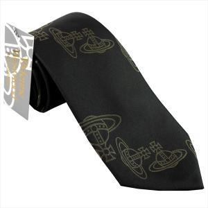 ヴィヴィアン ネクタイ viviennwestwood イタリー製 シルク100% ブラック系 C27-006 ギフト プレゼント 贈答品 記念品|zennsannnet