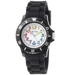 カクタス キッズ腕時計 CACTUS kids 子供用時計 カラフルインデックス ブラック CAC62-M01 ギフト プレゼント 記念品 誕生日|zennsannnet
