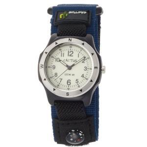 カクタス キッズ腕時計 CACTUS 子供用時計 コンパス付き 100m防水 CAC65-M03 ブルーベルト ギフト プレゼント 記念品 誕生日 zennsannnet