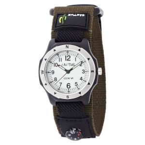 カクタス キッズ腕時計 CACTUS 子供用時計 コンパス付き 100m防水 CAC65-M12 カーキベルト ギフト プレゼント 記念品 誕生日 zennsannnet