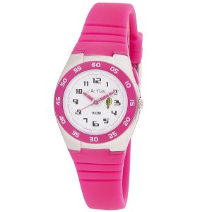 カクタス キッズ腕時計 CACTUS 子供用時計10気圧防水 ELバックライト ピンク CAC75-M55  ギフト プレゼント 記念品 誕生日 zennsannnet