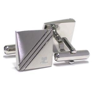 クレージュ courrege カフスボタンcuffs ブランド ロジウム CC5005 ギフト プレゼント 贈答品|zennsannnet