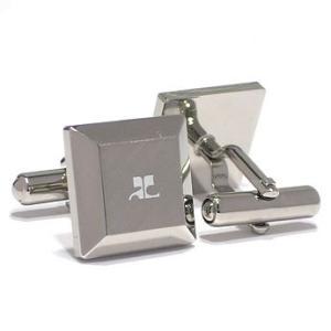 クレージュ courrege カフスボタンcuffs ブランド ロジウム CC5006 ギフト プレゼント 贈答品|zennsannnet