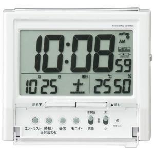SEIKO CLOCK 目覚し時計 電波時計 音声アラーム バイリンガル切替  DA206W ギフト プレゼント|zennsannnet