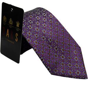 ダックス DAKS 紳士ブランドネクタイ necktie 1240 パープル系|zennsannnet