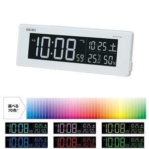 SEIKO CLOCK 目覚し時計 電波時計 LED デジタル表示 70色グラデーションモード搭載 AC電源 DL205W ギフト プレゼント|zennsannnet