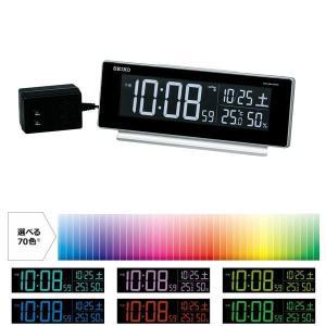 SEIKO CLOCK 目覚し時計 電波時計 LED デジタル表示 70色グラデーションモード搭載 AC電源 DL207S ギフト プレゼント|zennsannnet