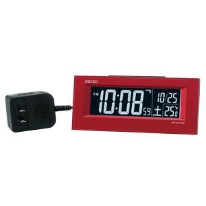 SEIKO CLOCK 目覚し時計 電波時計 LED デジタル表示  AC電源 DL209R ギフト プレゼント|zennsannnet