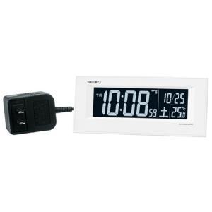 SEIKO CLOCK 目覚し時計 電波時計 LED デジタル表示  AC電源 DL209W ギフト プレゼント|zennsannnet