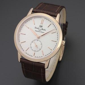 ドルチェ・メディオ Dolce Medio メンズ腕時計 ドレスウォッチ DM11210-PGWH ホワイトフェイス|zennsannnet