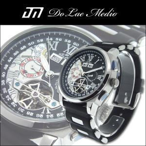 ドルチェ・メディオ Dolce Medio メンズ腕時計 自動巻き オートマチック マルチカレンダー DM8004-BK|zennsannnet