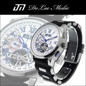ドルチェ・メディオ Dolce Medio メンズ腕時計 自動巻き オートマチック マルチカレンダー DM8004-WH|zennsannnet