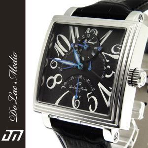 ドルチェ・メディオ Dolce Medio メンズ腕時計 自動巻き レトログラード機構 オートマチック  DM8009-BK|zennsannnet