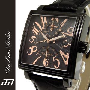 ドルチェ・メディオ Dolce Medio メンズ腕時計 自動巻き レトログラード機構 オートマチック  DM8009-IPBK|zennsannnet